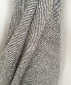 Baumwolle grau-weiß geringelt