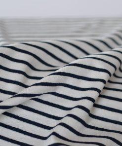 Viskosejersey blau-weiß