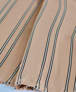 Viskose nudefarben mit Streifen
