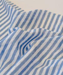 Leinenjersey blau-weiß