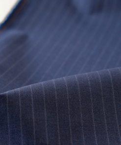 Wolle-Cotton Navy mit Nadelstreifen