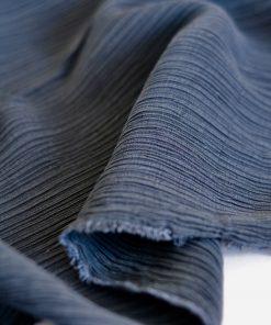 Viskose-Plissee mattblau