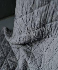 Cotton Quilt Arlo Charcoal