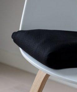 Organic Chevron Quilt Black