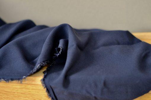 Futterstoff Viskose dunkelblau