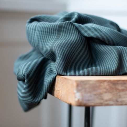 Tencel Plaid Deep Green