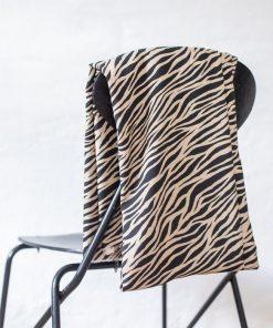 Viskose Zebra black-sand