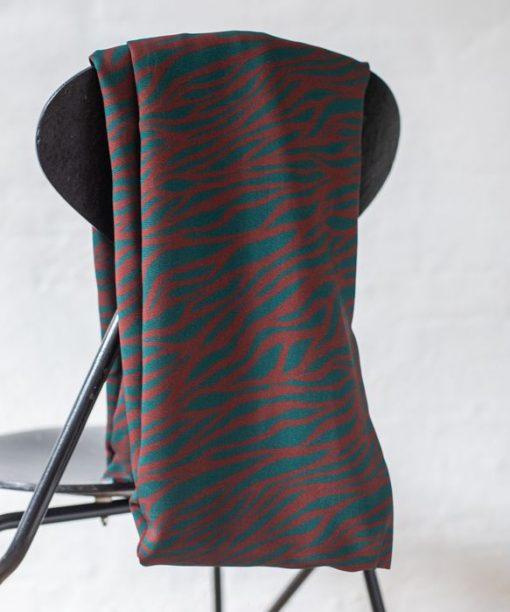 Viskose Zebra teal-brown