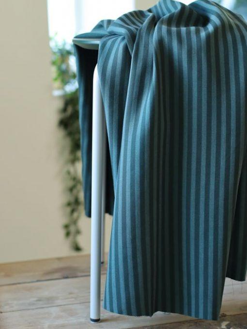 Tencel Stripe Twill Deep Green