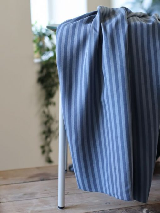 Tencel Stripe Twill Dusty Blue