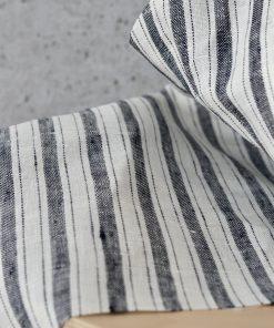 Leinen Navy Stripe