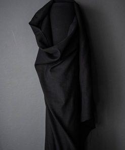 Leinen Cotton Black