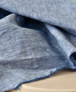 Leinen Cotton Denimblue