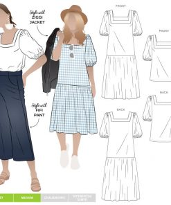 Clementine Dress Top - Style Arc