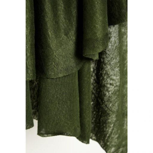 Fine Linen Knit Green Khaki