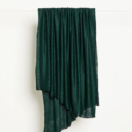 Fine Linen Knit Bottle Green