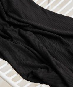 meetMilk Ribbed Jersey Black