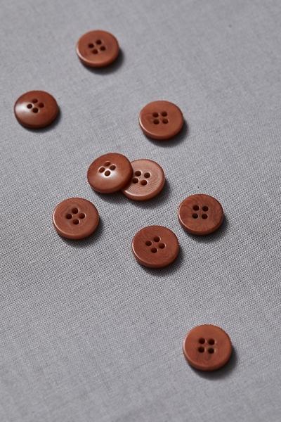 Plain Corozo Button Rust