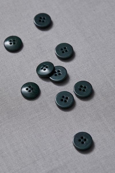 Plain Corozo Button Emerald