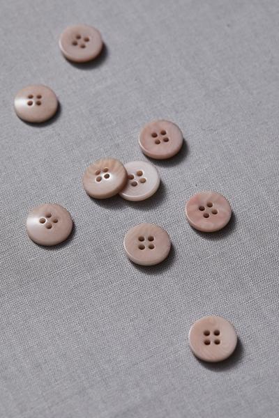 Plain Corozo Button Warm Sand