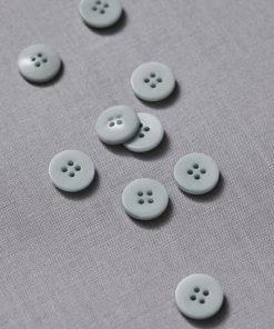 Plain Corozo Button Blue Mist