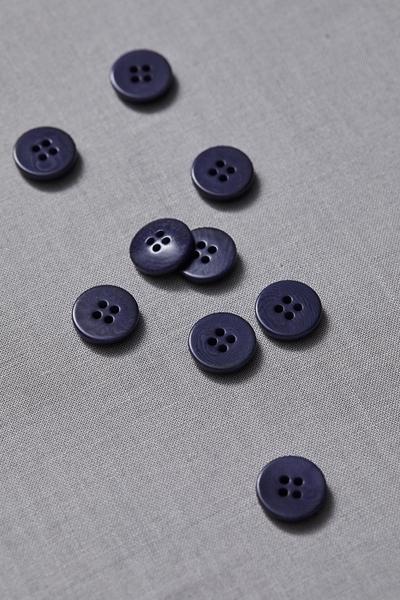 Plain Corozo Button Blueberry