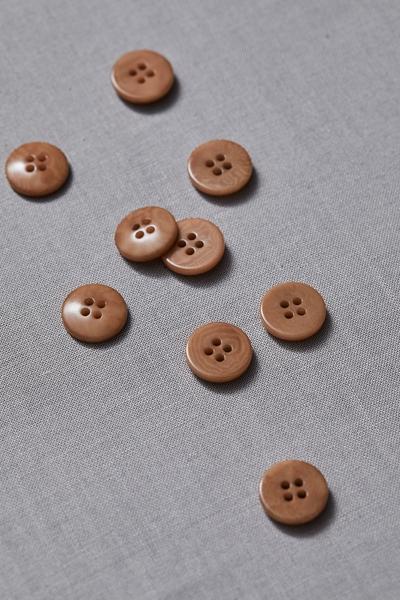 Plain Corozo Button Mustard