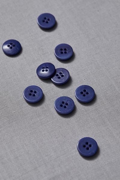 Plain Corozo Button Lapis