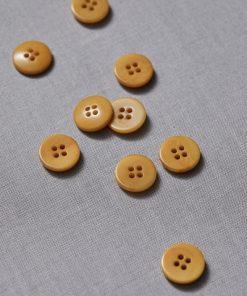 Plain Corozo Button Amber