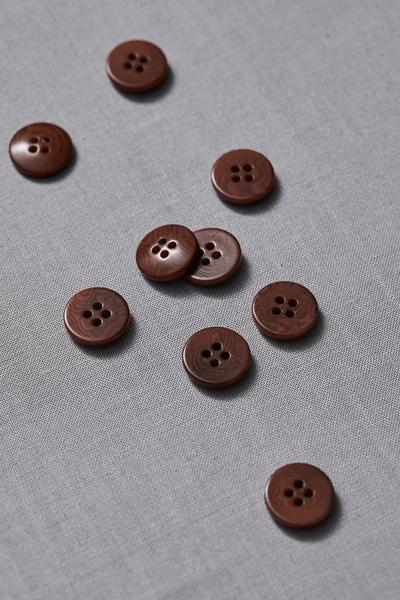 Plain Corozo Button Pecan