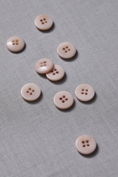 Plain Corozo Button Powder Pink