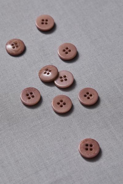 Plain Corozo Button Old Rose