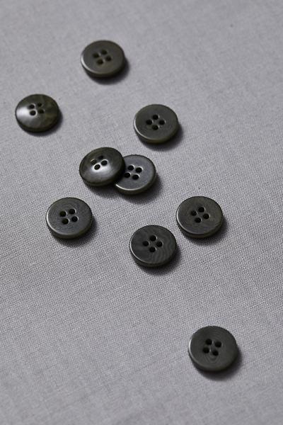 Plain Corozo Button Khaki