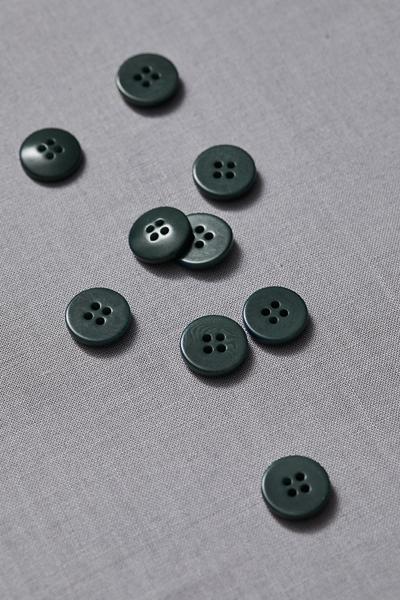 Plain Corozo Button Deep Green